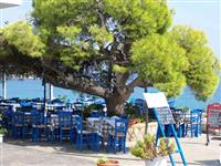 Taverna on the beach in Agia Marina